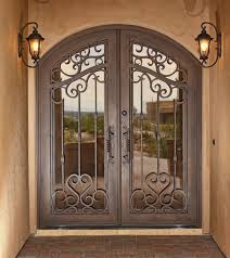 New Wrought Iron Exterior Security Doors  For With Wrought Iron - Iron exterior door