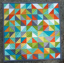 398 best Solid Color Quilts images on Pinterest | Blog ... & modern triangle quilt Adamdwight.com