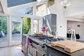 stove in island with no vent. an open-space kitchen without a ventilation hood or ceiling extractor stove in island with no vent h