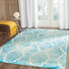 safavieh dip dye turquoise ivory 6 ft x 9 ft area rug