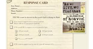 response cards template aussies in haiti mission response card