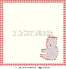 baby postcard frame red cage white space soft gray teddy bear toy cute baby