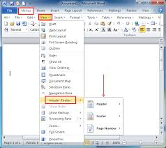 Ms Word Header Where Is The Footer In Microsoft Word 2007 2010 2013 2016