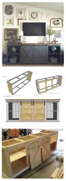 white sliding barn doors. Clever Sliding Barn Door Entertainment Center Rustic And Neutral White Doors