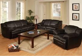 Incredible Decoration Black Leather Living Room Furniture