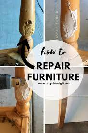 How To Repair Damaged Furniture