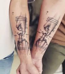 18 идей для парных татуировок которые можно разделить с дорогим