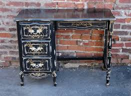 distressed antique furniture. Black Painted Antique Furniture With Distressed Furniture: Writing Desk Finish