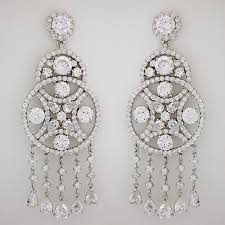large cz chandelier earrings