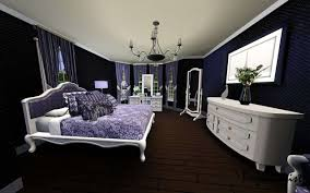 Impressive Purple And Black Bedroom Ideas pertaining to House Decorating  Plan with Black White And Purple Bedroom White Bedrooms Sofa Bed Also