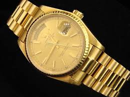 mens rolex solid 18k yellow gold day date president watch mens rolex solid 18k yellow gold day date president watch champagne stick 18038