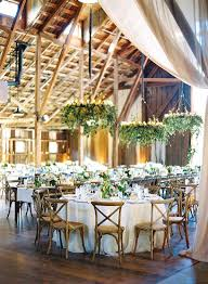 wedding decoration ideas rustic barn reception with fl chandelier outdoor