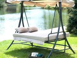 patio swings wooden porch swing deluxe lounger with canopy full size of at set covers