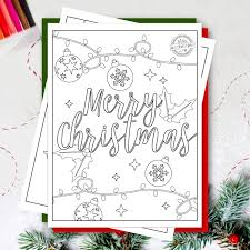 Click on the free christmas color page you would like to print or save to your. Free Printable Merry Christmas Coloring Pages For Kids