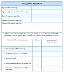 Workshop Evaluation Forms Template Appraisal Document Template 17