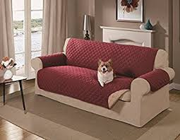 Amazon Mason Reversible Sofa Cover Red Pet Supplies