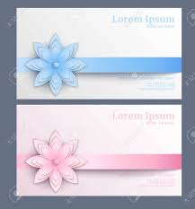 Paper Flower Business Business Card With Paper Flower Template Of Visit Card Decorated