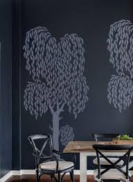wall stencil large weeping willow tree diy home decor wall art