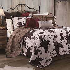 bedding n more elsa cowhide western quilt bed set by hiend accents
