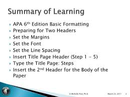 What Is Apa 6 Th Edition Format Accurate Apa Subtitle Levels 20