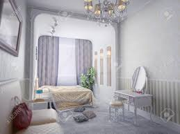 Luxury Bedroom Interior Modern Luxury Bedroom Interior Computer Generated Stock Photo