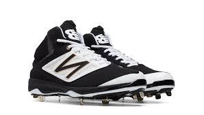 new balance metal baseball cleats. men\u0027s new balance high top metal baseball cleats m4040bw3 black/white t