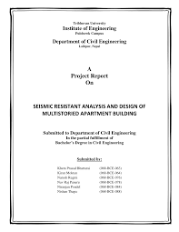 Analysis And Design Of Multistorey Building Pdf Pdf Seismic Resistant Analysis And Design Of Multistoried