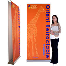 Retractable Display Stands 100 Orient Retractable Stand Medium DoubleSided Package 35