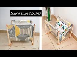 How To Make A Magazine Holder From Cardboard Impressive How To Make A Magazine Holder DIY Project YouTube