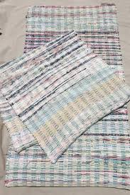 cotton rag rug vintage country primitive cotton rugs woven rag rug kitchen or porch runner rugs cotton rag rug