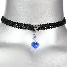 twilights fancy sapphire swarovski necklace