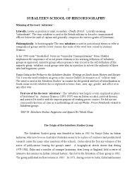 subaltern school of historiography postcolonialism historiography