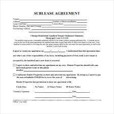 Apartment Sublease Template Residential Sublease Agreement Template Residential Sublease