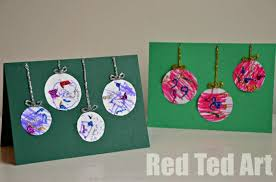 Preschooler Christmas Cards  Simple Bauble CardsChristmas Card Craft For Children