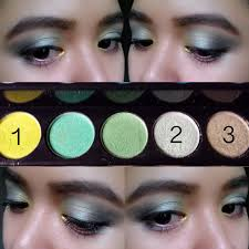note the palette captured on the middle photo is a small portion of eyeshadow shades from the sephora makeup academy palette these colors are located on