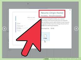 How To Create A Resume On Word Create A Resume In Word How To With