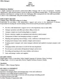 Office Manager Cv Example Office Manager Cv Example Cover Letters And Cv Examples