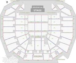 Detailed Seat Row Numbers Concert Chart With Floor Lower