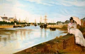 saatchi art the port of lorient after berthe morisot painting by claude guillemet