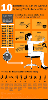 10 simple exercises you can do at your desk to improve your health and increase your