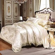 UniTendo 4 Piece Sateen Cotton Jacquard Duvet ... - Amazon.com