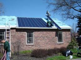 installation of solar metal roofing