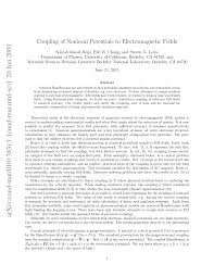 PDF) Coupling of Nonlocal Potentials to Electromagnetic Fields