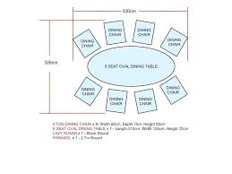 dining table size for 8 round dining table size tables seats on dining table oval dining