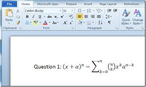 equation editor word free