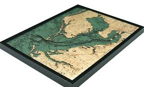 Tampa Bay Wood Carved Topographic Depth Chart Map Etsy