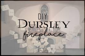 diy dursley s fireplace how to make the dursley s fireplace from harry potter with flying hogwarts