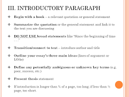 the literary essay taming the five paragraph beast ppt 7 iii