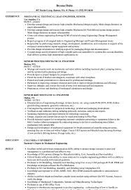 Mechanical Senior Mechanical Engineer Resume Samples Velvet Jobs