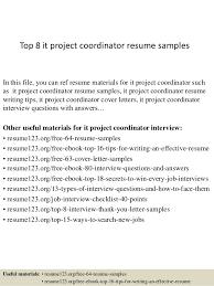 Project Coordinator Resume Resume Template Ideas